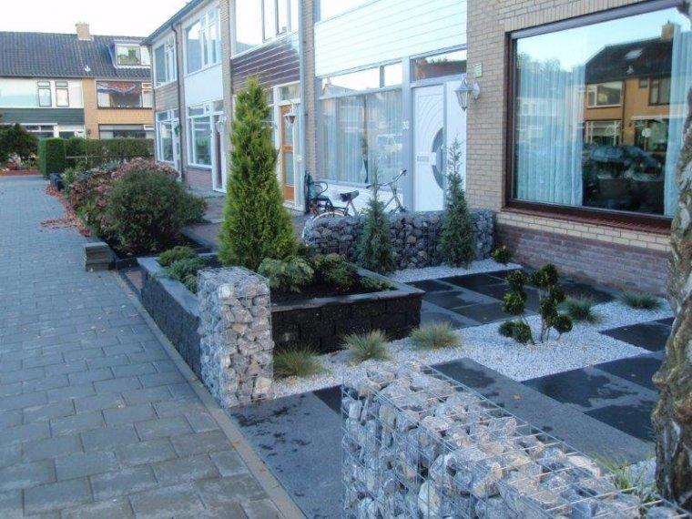 Tuin met frisse uitstraling en weinig onderhoud for Tegels bodegraven