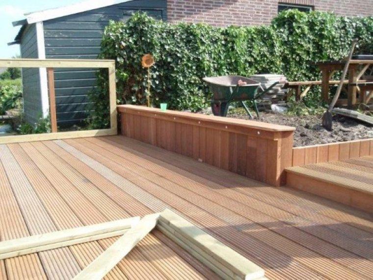 Tuinaanleg hoveniersbedrijf n slappendel zn vof realiseert een tuinontwerp vanuit een - Bank terras hout ...